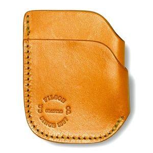 Filson Bridle Leather Front Pocket Card Case